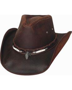 ade65d01268 Bullhide Briscoe Leather Cowboy Hat