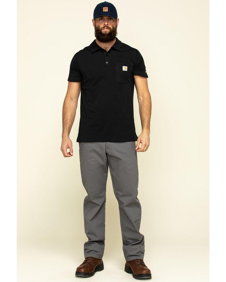 Carhartt Men's Black Force Cotton Pocket Polo Work Shirt - Big , Black, hi-res