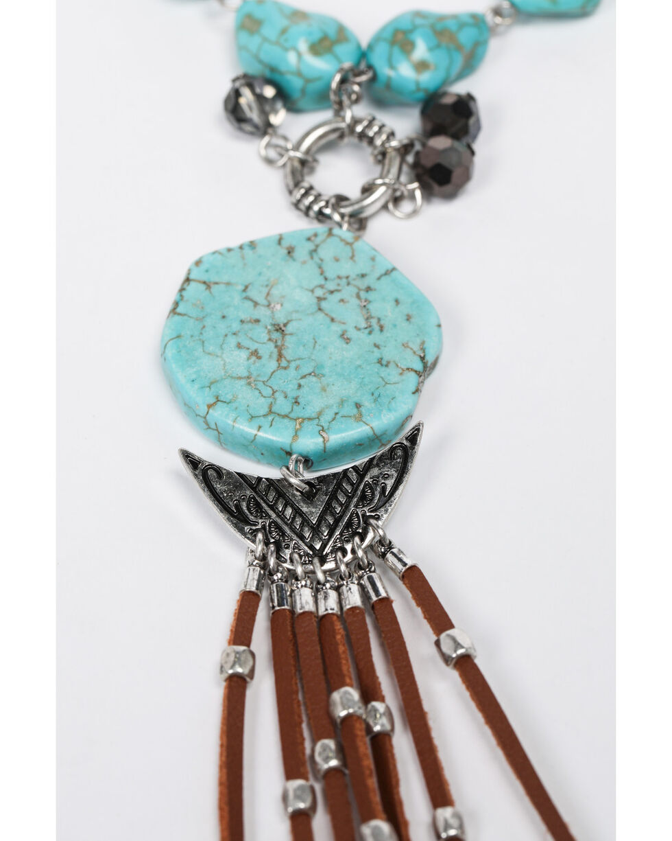 Shyanne Women's Emma Rae Turquoise Tassel Necklace, Turquoise, hi-res