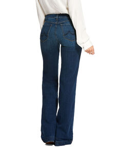Ariat Women's Kelsea Trouser Stretch Wide Leg Jeans, Blue, hi-res