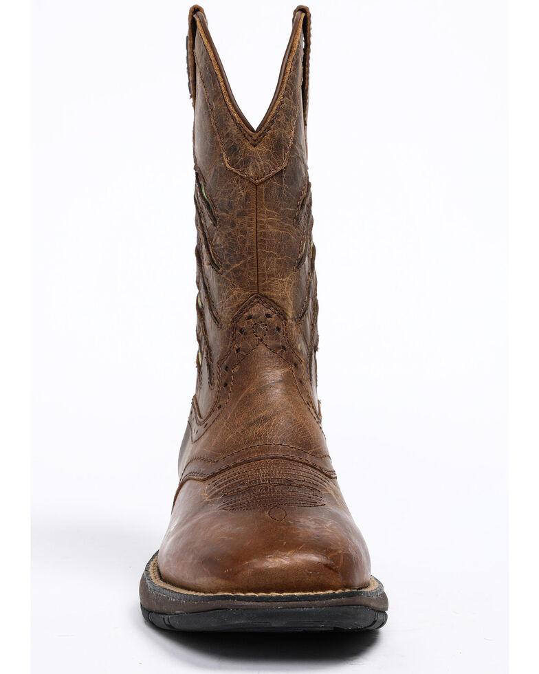 Cody James Men's Xero Gravity Patriotic Western Boots - Square Toe, Brown, hi-res