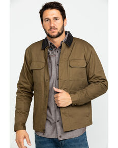 Cody James Men's Saddler Ranch Slub Canvas Jacket , Lt Brown, hi-res