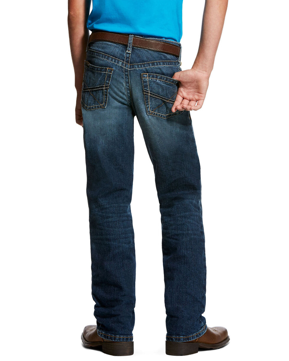 Ariat Boys' B5 Caden Stretch Slim Straight Jeans , Blue, hi-res