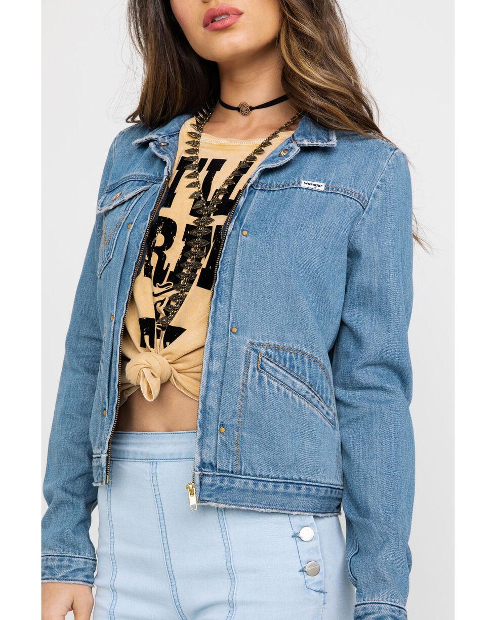 Wrangler Women's Modern Heritage Venus Zip Denim Jacket  , Blue, hi-res