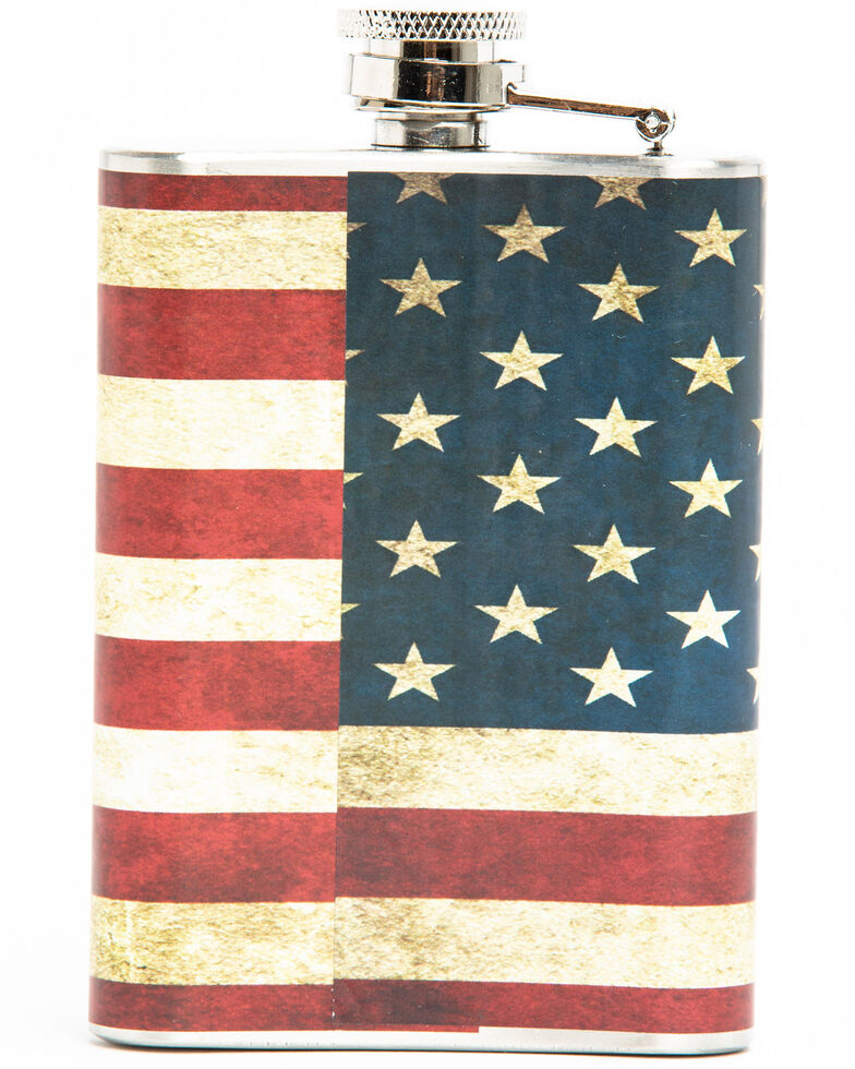 Bullseye American Flag 4oz Flask, Multi, hi-res