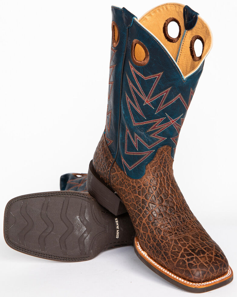 Cody James Men's Bullfrog Printed Western Boots - Square Toe, Brown, hi-res
