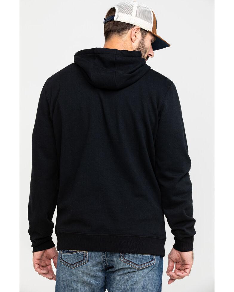 Cinch Men's Fleece Logo Graphic Hooded Sweatshirt , Black, hi-res