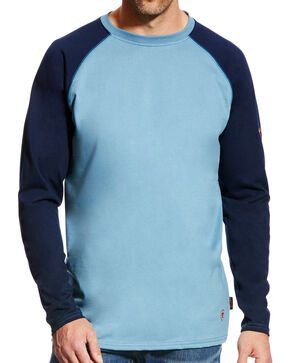 Ariat Men's FR Baseball Tee - Big & Tall, Blue, hi-res
