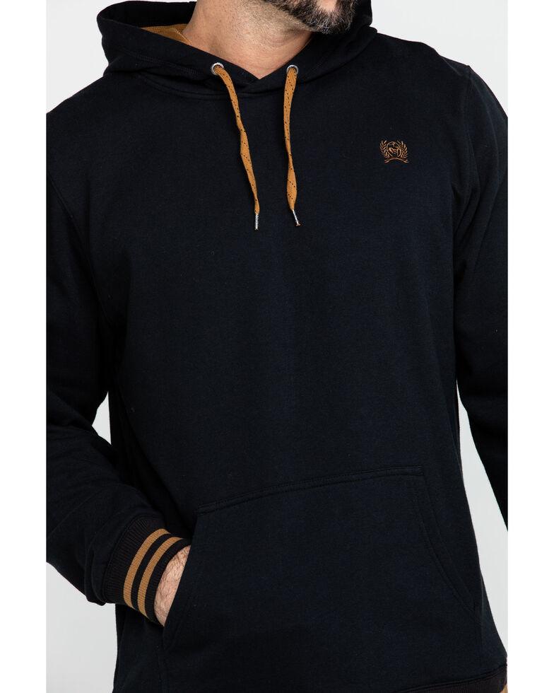 Cinch Men's Black Fleece Logo Hooded Sweatshirt , Black, hi-res