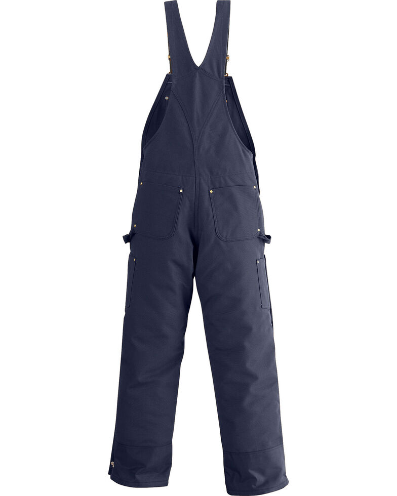 Carhartt Men's Dark Navy Quilt Lined Overalls , , hi-res