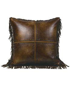 HiEnd Accents Austin Cross Stitch Pillow, Multi, hi-res