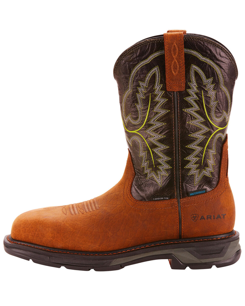Ariat Men's Brown Workhog XT H20 Boots - Carbon Toe, Brown, hi-res