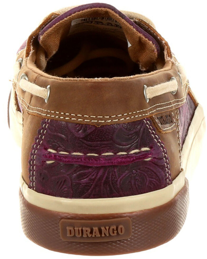 Durango Women's Music City Plum Boat Shoes - Moc Toe, Purple, hi-res