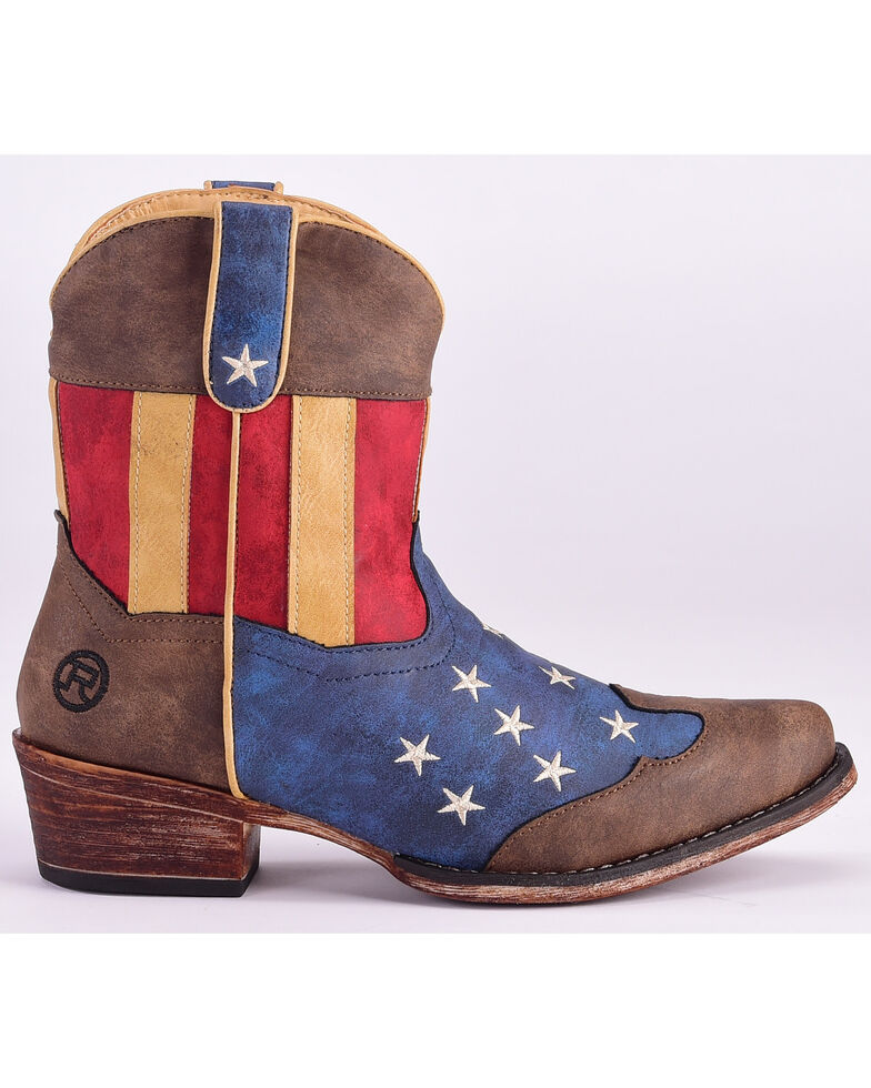 0c01cfaf733 Roper Women's American Flag Boots - Snip Toe
