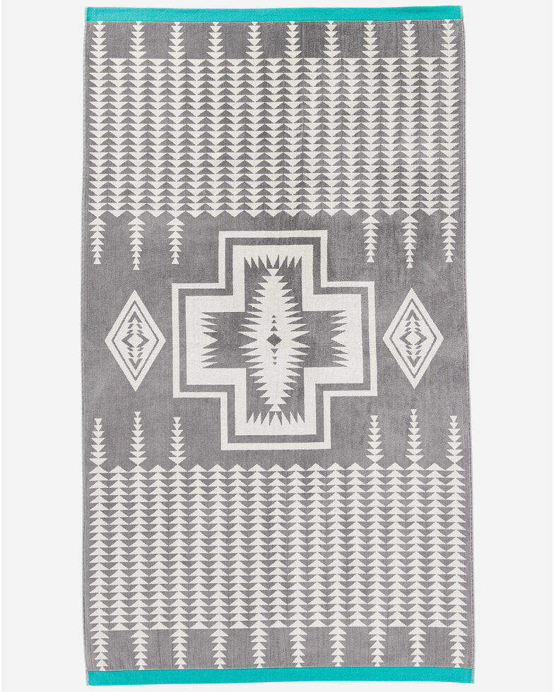 Pendleton Harding Jacquard Oversized Spa Towel, Grey, hi-res