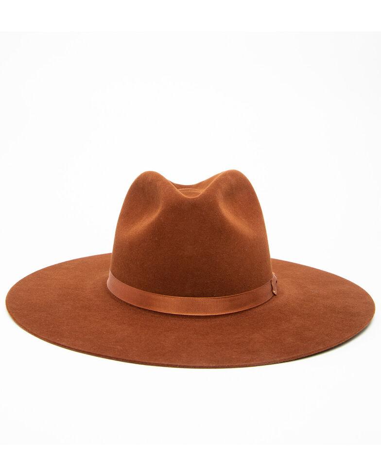 Rodeo King Women's 7X Tracker Pinch Front Fur Felt Hat , Rust Copper, hi-res