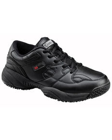 SkidBuster Men's Slip Resistant Lace Up Work Shoes, Black, hi-res