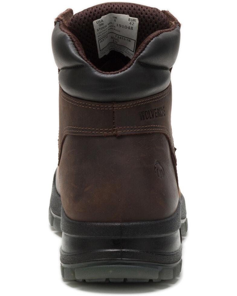 Wolverine Men's Dark Brown Ramparts Work Boots - Soft Toe, Dark Brown, hi-res