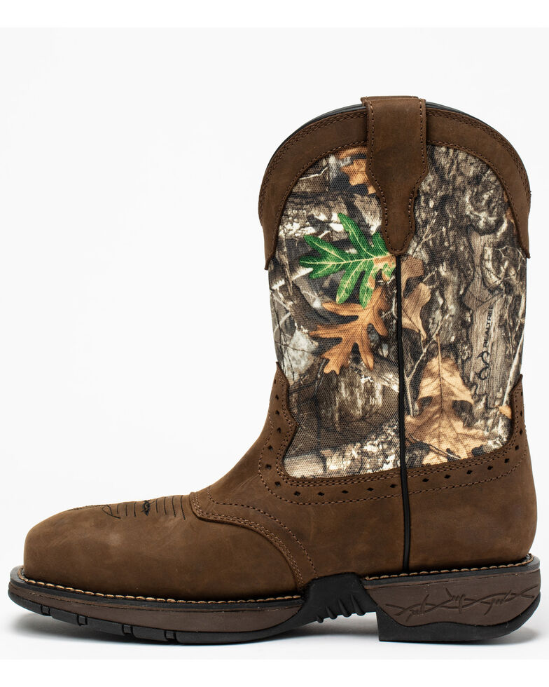 Cody James Men's Xero Lite Camo Western Work Boots - Composite Toe, Brown, hi-res