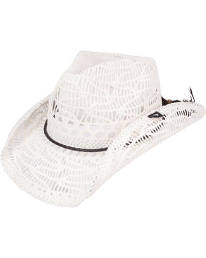 Peter Grimm Women's Abilene Straw Cowgirl Hat, White, hi-res