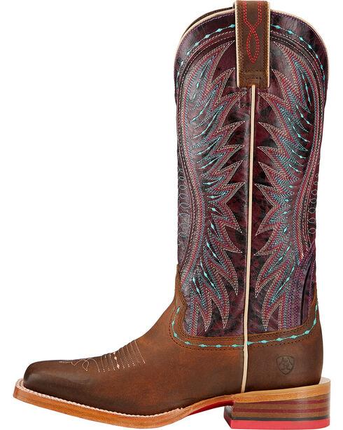 Ariat Women's Vaquera Square Toe Western Boots, Khaki, hi-res