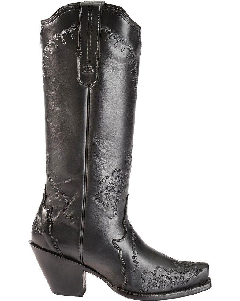 Tony Lama Women's Black Label Western Boots, Black, hi-res