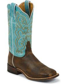 Tony Lama Women's Americana Western Boots, Tan, hi-res