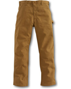 Carhartt Men's Flame-Resistant Duck Dungaree Work Pants, Brown, hi-res