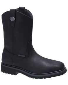 Harley Davidson Men's Altman Black Western Work Boots - Composite Toe, Black, hi-res