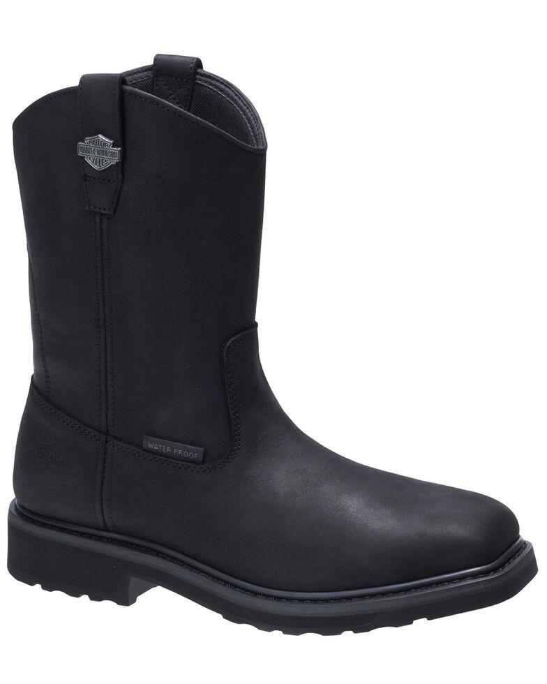 Harley Davidson Men's Altman Black Western Work Boots - Composite Toe, Black, hi-res