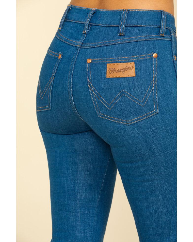 Wrangler Women's High Rise Lowdip Rinse Bootcut Jeans , Blue, hi-res