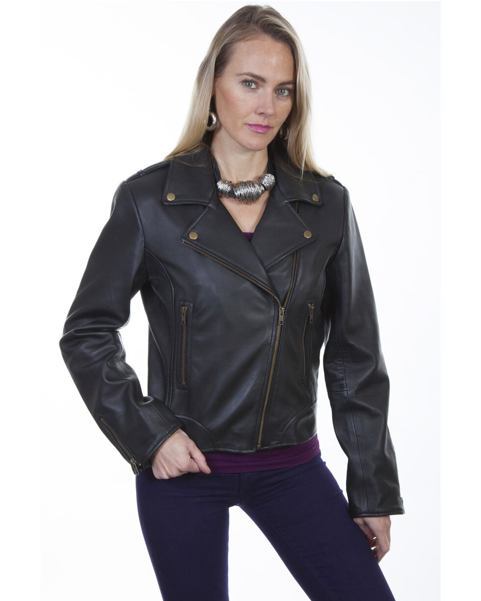Scully Women's Concealed Carry Moto Jacket, Black, hi-res