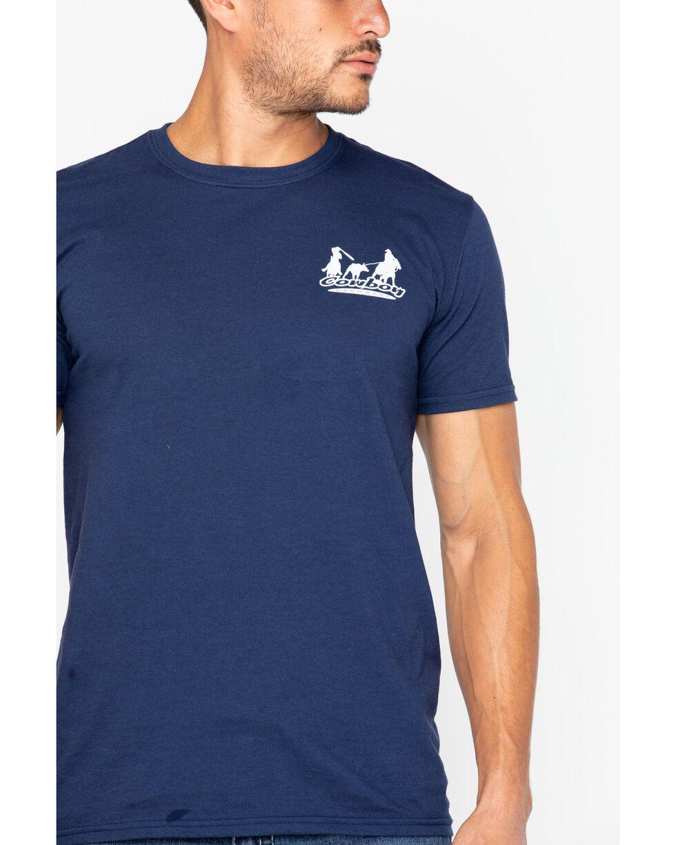 Cowboy Hardware Men's Classic Logo T-Shirt, Navy, hi-res