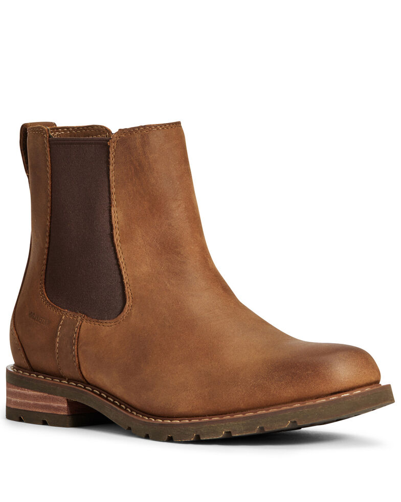 Ariat Women's Wexford Waterproof Chelsea Boots - Round Toe, Brown, hi-res