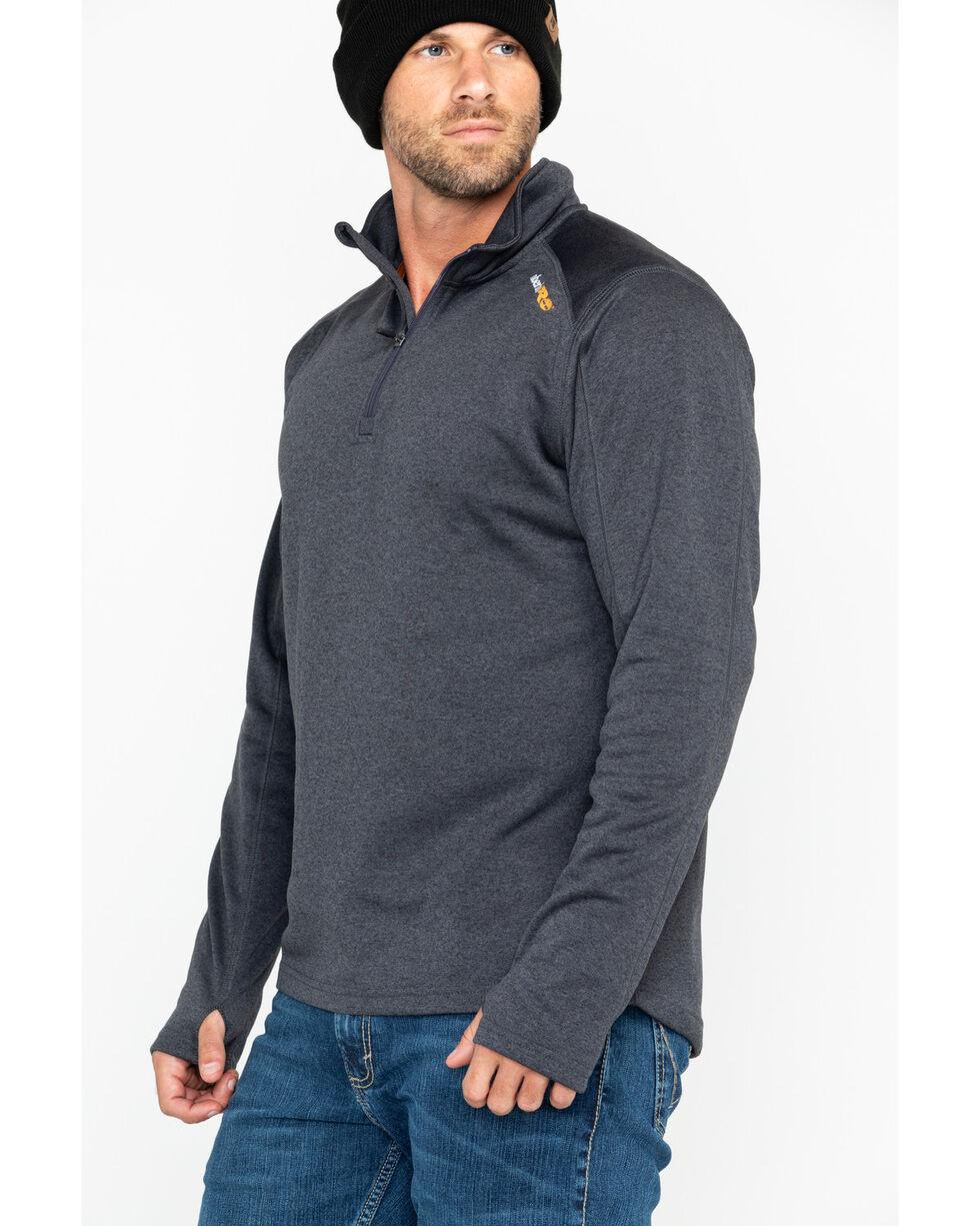 Timberland Men's Solid Understory 1/4 Zip Fleece Work Pullover, Charcoal, hi-res