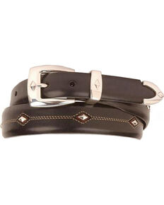 Denver Diamond-Shaped Stud Belt, Black, hi-res