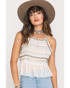 Free People Women's Camille Sequin Cami , Ivory, hi-res