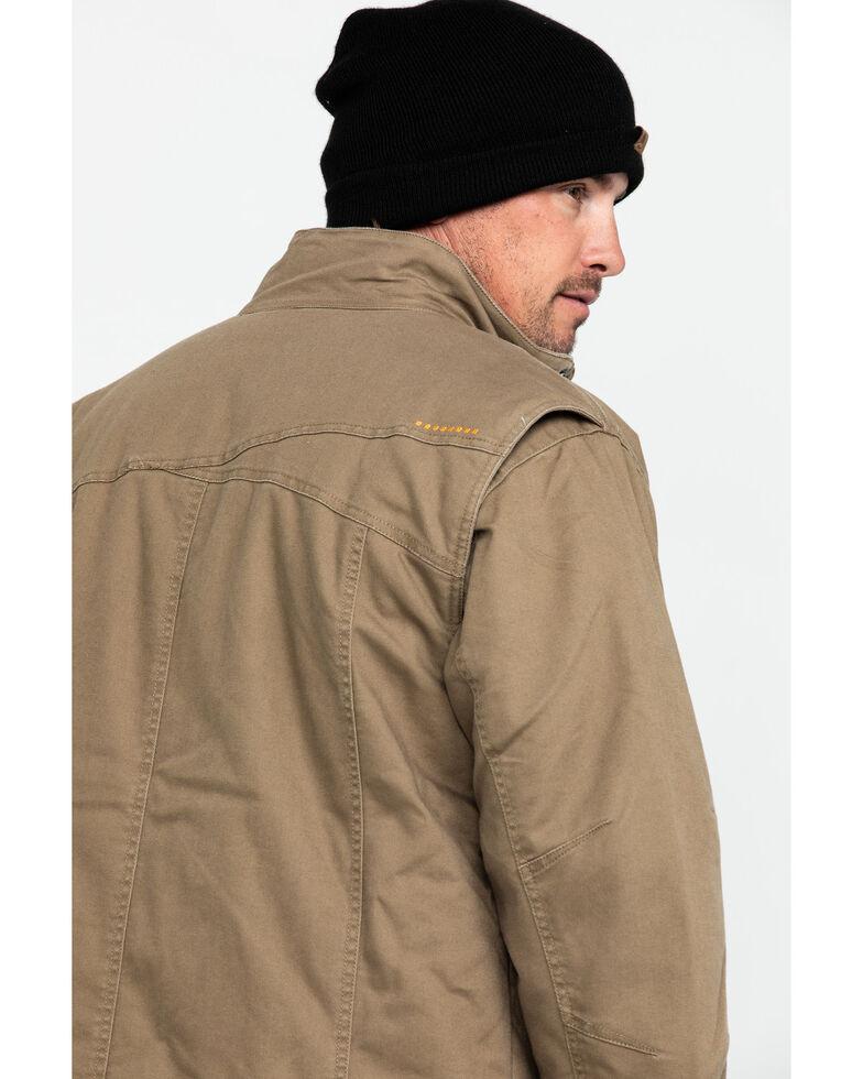 Ariat Men's Khaki Rebar Washed Dura Canvas Insulated Work Coat , Beige/khaki, hi-res
