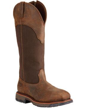 Ariat Workhog Waterproof Snake Work Boots, Brown, hi-res
