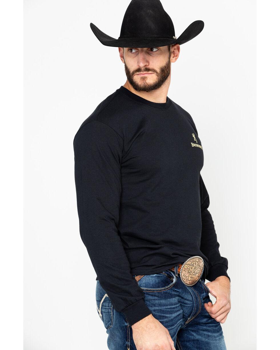 Browning Men's Camo Logo Print Long Sleeve Shirt , Black, hi-res