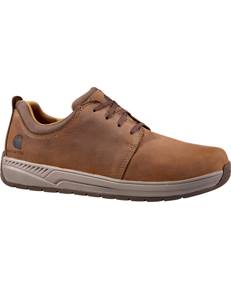 Carhartt Men's Brown Oxford Work Shoes - Non-Safety Toe, Chocolate, hi-res