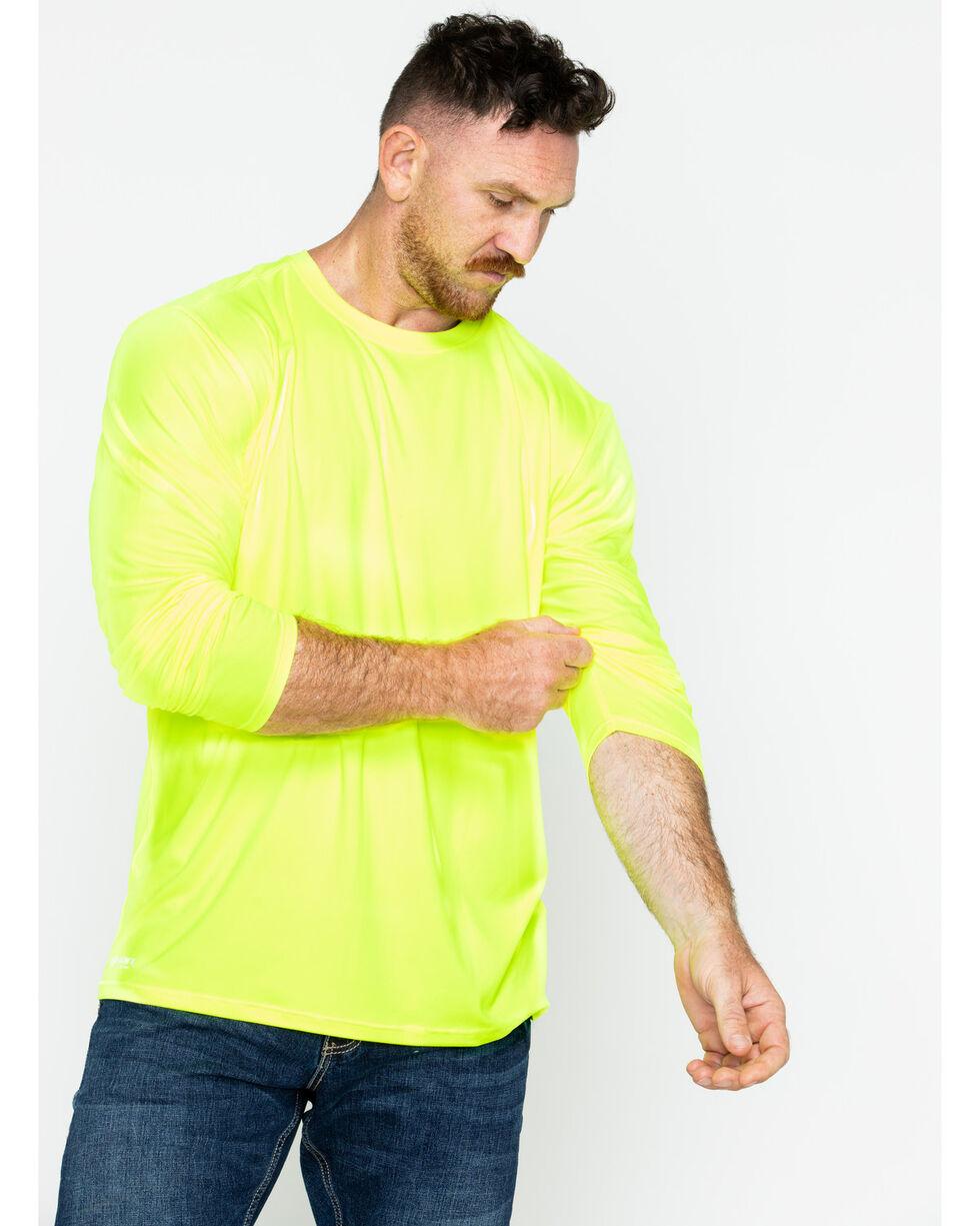 Hawx® Men's Long Sleeve Color-Enhanced Cooling Work Tee , Yellow, hi-res