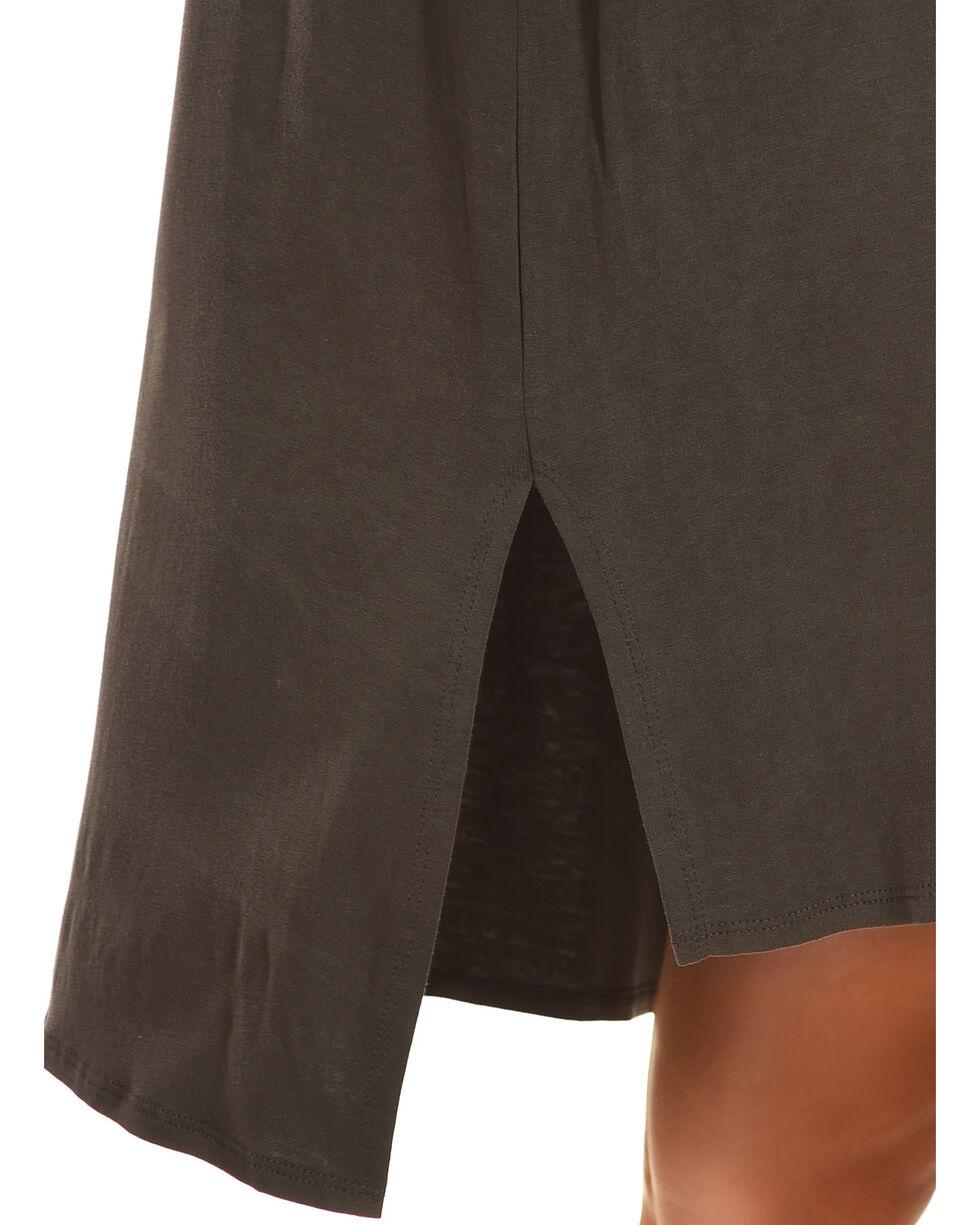 Ces Femme Women's Tassel Detail Cold Shoulder Dress , Grey, hi-res