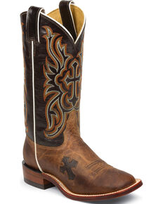 c16231b006c4a9 Tony Lama Womens Tan Mad Dog Goat San Saba Western Boots - Square Toe