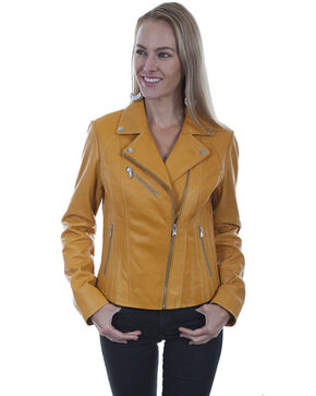 Leatherwear by Scully Women's Butterscotch Suede Motorcycle Jacket, Tan, hi-res