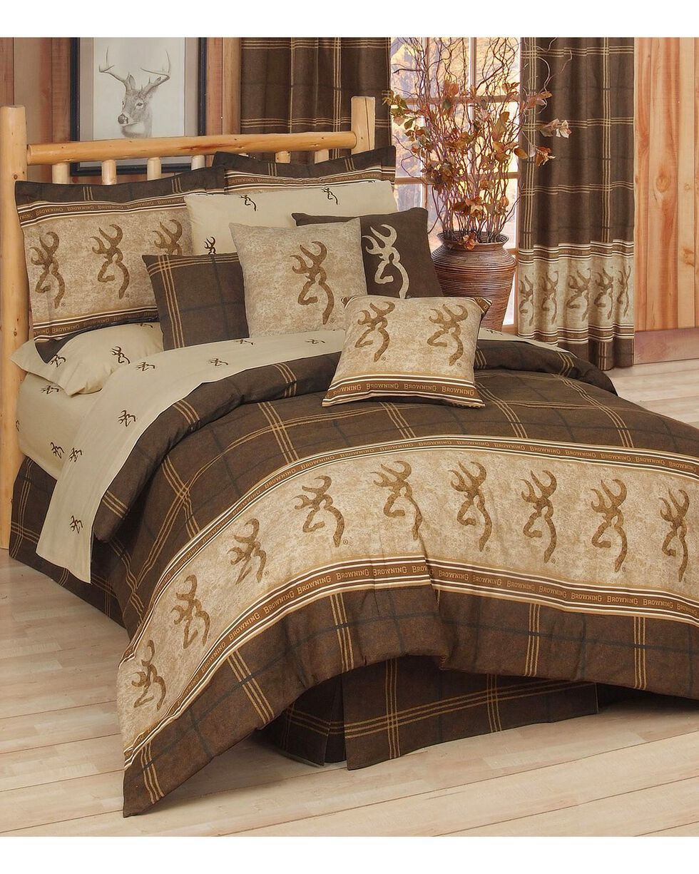 Browning Buckmark Full Comforter Set, Brown, hi-res