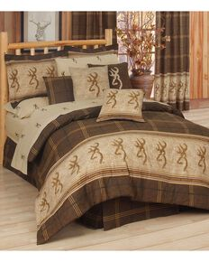 Browning Buckmark Queen Comforter Set, Brown, hi-res