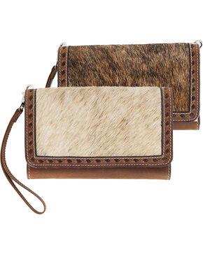 Shyanne® Women's Fur-On Crossbody Bag, Brown, hi-res
