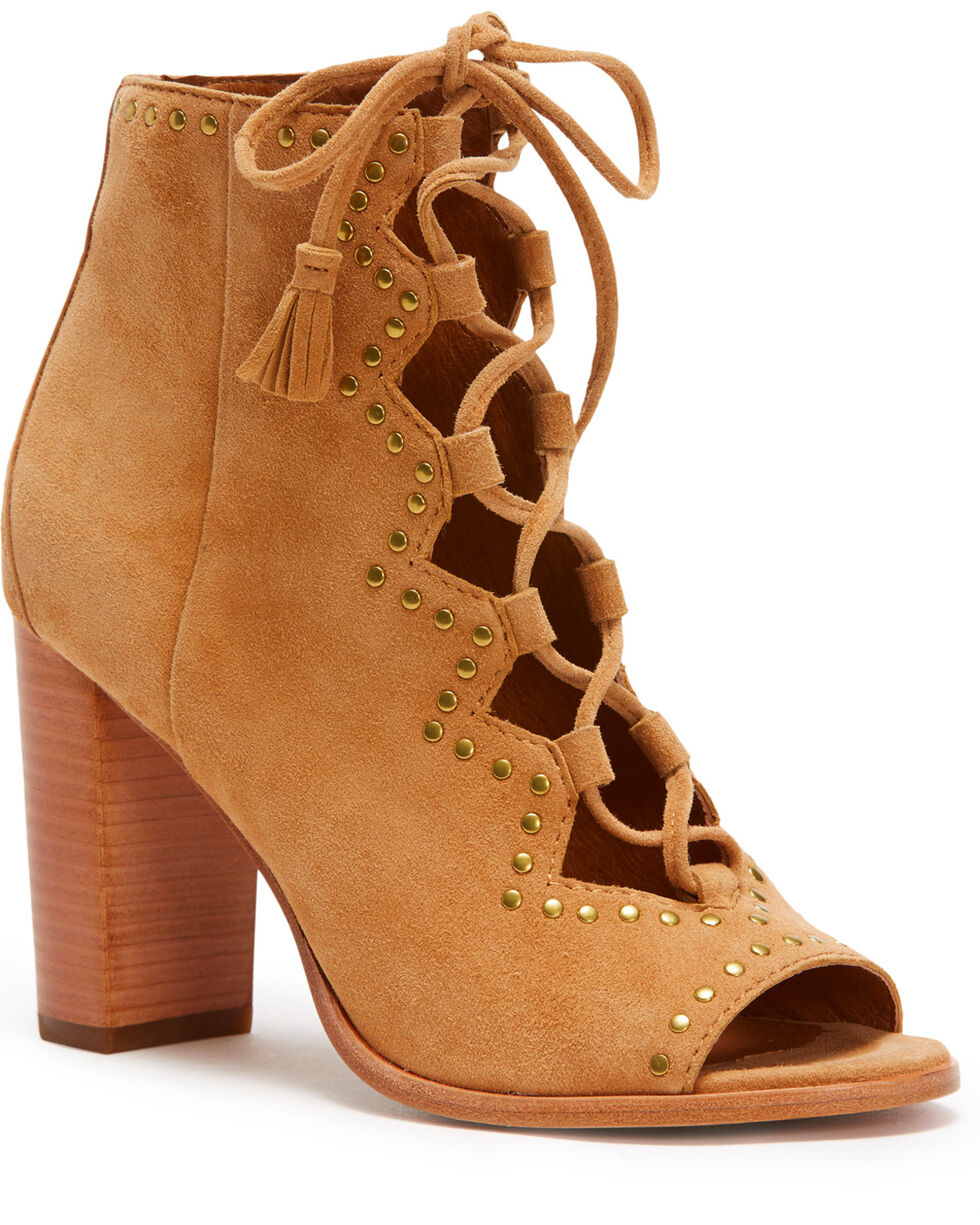 Frye Women's Sand Gabby Ghillie Stud Shoes - Round Toe , Sand, hi-res