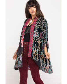 Johnny Was Women's Payden Reversible Kimono, Black, hi-res
